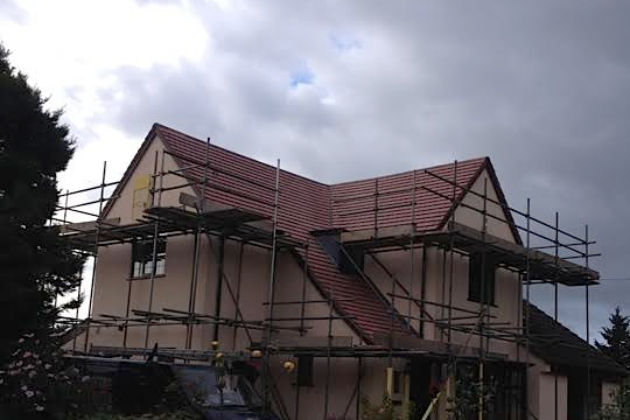 Completed re-roof in Marley Gemini Old English Red