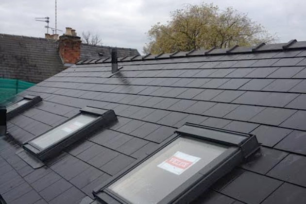 Composite Slate with Velux windows