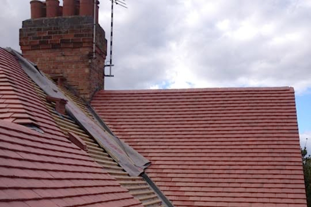 Dry Valley with Plain Tiles fitted